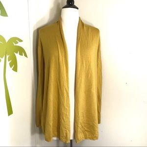 Dreamers Yellow Mustard Open Cardigan Size Small
